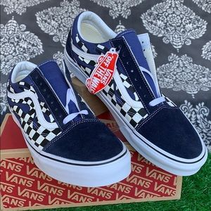 VANS OLD SKOOL CHECKER FLAME NAVY/TRUE WHITE MEN'S